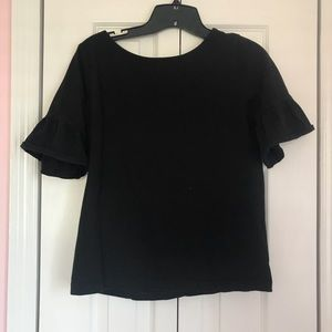 Jcrew Ruffle Sleeve Top- size small